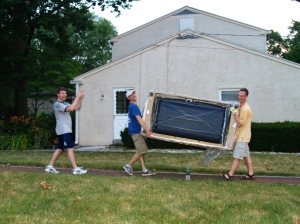 Moving couches (ouch) out of Ambler