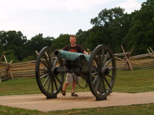 Lighting the cannons at Gettysburg